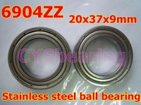 whosale and retail quality stainless steel 440C S6904 SS6904 61904 6904 6904ZZ 20X37X9 mm deep groove ball bearing