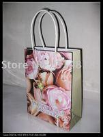 OEM 180gsm White Kraft shopping paper bags gift packaging bags
