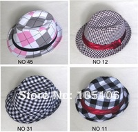 Fashion Children's Caps Hats checked Fedoras Hat Grid cap For kid Fashion Headgears Headwear