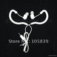 New Waterproof earhook headphone in-ear earphone for 4 IPX8 Tayogo/FSC Waterproof MP3 Player with 2.5mm jack White
