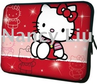 Free EMS Shipping 10.2-17.4inch 50pcs/lot Hot Selling Brand New Hello Kitty Laptop Notebook Sleeve Bag Case