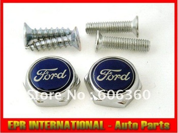 For Ford Emblem 2PCS Number License Plate Bolt FOCUS MUSTANG