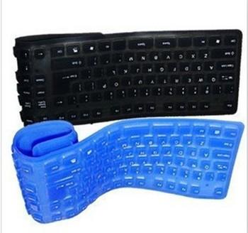 50pcs New Foldable Flexible mini USB SILICON KEYBOARD Flexible keyboard