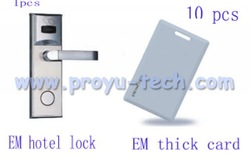 EM Card Hotel Door Lock, hotel lock, EM, ID hotel lock with 10pcs EM ID thick card (PY--8011-3Y)(China (Mainland))