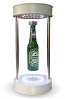 magnetic floating bottle display, beer bottle levitation led floating novelty gadget home decoration can be customized