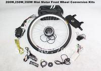 Free Shipping ! Wholesale 48V 350W Front Wheel Conversion Kits DIY Ebikes Electric Bicycle Conversion Kits