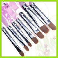 KT345 Marble Handle Nail Art Brush For UV Gel X 7 New