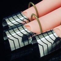 10 x reusable forms uv gel acrylic nail art tips Silver Free shipping