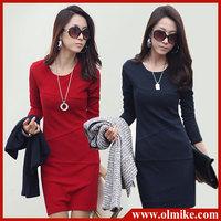 OL Sexy Split Irregular Slim Clubwear Asymmetric Hem High-low Maxi Swallow Long Women Dress Free Shipping