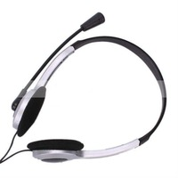 1215  Free Shipping Selling by 50pcs Headset Headphone Microphone PC Computer For MSN Skype