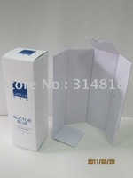 OEM customerized logo cosmetic paper packing box gift packing box with flute tray design and printing
