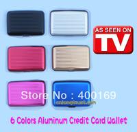 200pcs/lot wholesale 6 colors (Black, Silver, Red, Blue, Pink, Gloden) Aluminum Wallet, Credit Card Box, Wallet