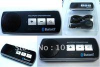 5pcs/lot sun visor car bluetooth speaker phone handsfree car kit free shipping  AT-B011