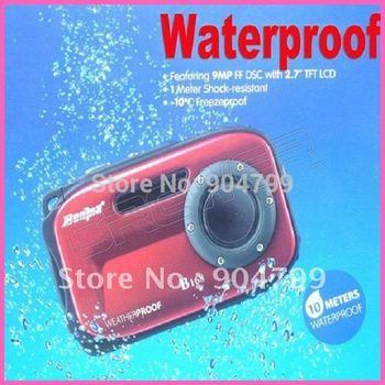 "Free shipping New 2.7"" TFT screen 14 mega 8x zoom waterproof digital camera"