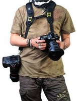 Camera Light & Quick Neck Double Shoulder Belt Strap for canon nikon sony pentax DSLR