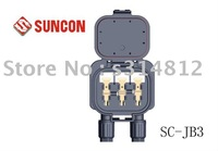 solar junction box rail-three/guaranteed 100%/PPO/free shipping TUV /pv junction box