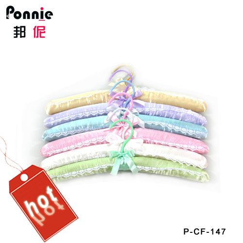 38X11cm hot selling Ponnie 100% Geniue fabric hanger colorful P-CF-147