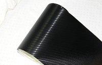 air free bubbles with air drain backside 3D Carbon Fiber Vinyl car stickers Decals 1.52*30M