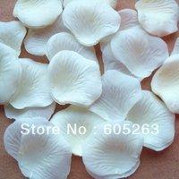 Wholesale  2000pc  Ivory  Silk Rose Petals wedding ceremony jewelry festival  Decoration Free shipping 4cm