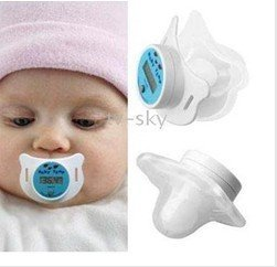 new arrive  wholesale 20pcs   baby  gift   Hot Blue Digital LCD Infant Baby Nipple Thermometer Health
