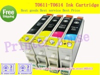 Free Shipping!Compatible ink cartridge T0611 T0612 T0613 T0614 for EPSON STYLUS D68/D88/SERIES/DX3800/DS3850/DX4200/DX4800