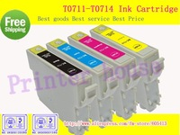 Free Shipping!Compatible ink cartridge T0711 T0712 T0713 T0714 for EPSON Stylus D78/D92/D120/DX4000/DX4050/DX4400/DX4450/