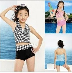 Free shipping & on sale! 5-12 YEARS OLD GIRLS TWO PIECE SWIMWEAR SWIMSUIT SET CHILDREN SWIMWEAR KIDS BEACHWEAR BATHING SUIT(China (Mainland))