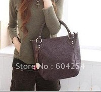 4 colors mixed! New Style Trendy Ladies Shoulder Tote/Ladies Fashion Bag with Carved Pattern brown corlor ID:8008