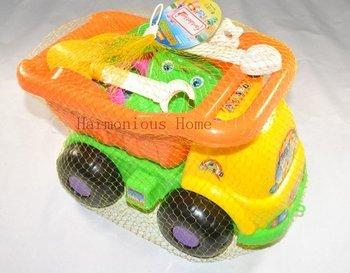 Free shipping,Children plastic sand toys set,beach toys set,loading trucks beach toys set