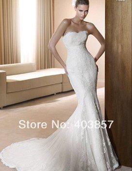 Wedding Dresses Chiffon Wedding Dress White Wedding Dress Strapless Wedding Dress( Dress+Cappa) HS0216