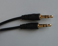 Free Shipping (via Air Express) 1000pcs 3.5mm Male to Male 3.5 mm Audio Extension Cable
