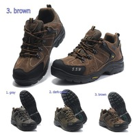 Top quality Fashion Original men&#39;s climbing shoes hiking boots leather shoes cow suede leather water proof wearproof size:38-44