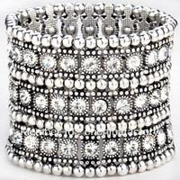 fashion four rows stretch alloy bracelets