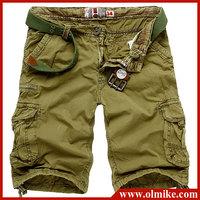 Wholesale Price 2014 Summer Preppy style Men's Many pockets casual cargo Shorts combat cotton shorts Short Pants W28-38 C451
