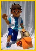 Adult Diego mascot costume Christma fur Cartoon Mascot Costume Cartoon Character Costume Free shippping
