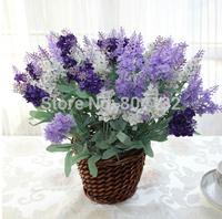100PCS high quality Lavender bouquet simulation flower / silk flower / artificial flower,lilac / dark purple / white color