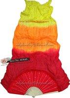 24pcs/lot free shipping brand new dance fan veil/belly dance fan veil/silk 3 colors fan veil/Mixed color
