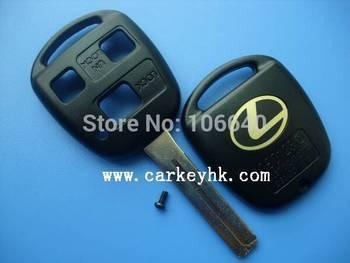 High quality Lexus 3 button remote key shell TOY 48 blade auto car key blank
