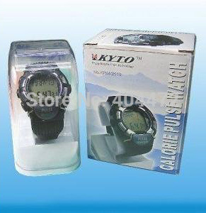 1pcs free shipping Sport Heart Pulse Rate Calorie Counter Watch+Monitor with gift box(China (Mainland))