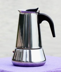 Free shipping 4 Cup,Bialetti,Inoxpran's Supplier,Stainless Steel Coffee Pot(Induction Cooker Suitable)(China (Mainland))