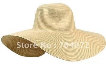 "Wholesale-22""Lady Sun helen floppy hat +Wid Brim Straw+ fashion +Spice Girls+personalized +dress+red+kangol+ snap back Hat"
