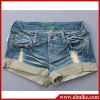 Hot sale Summer Women's Denim shorts, Lady casual jeans shorts cotton washed short pants for women WA172