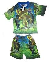 Free Shipping +New supply in summer 2011 BEN10 series of boy children suits, children T shirt