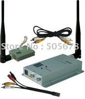 Wireless 400mW 1.2GHz video transmitter and receiver for CCTV security cameras