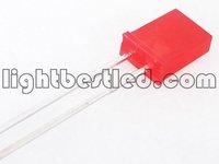 2x5x7 Rectangular type LED Red Color Red Diffused Lens 1.9~2.3V 200mcd 120deg