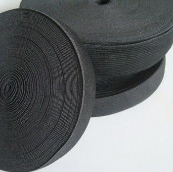 2.5cm width ,black ,elastic band,elastic webbing, MOQ is 40M/roll,FREE SHIPPING