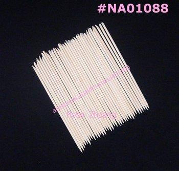 100pcs Orange Wood Sticks Nail Art Cuticle Pusher Remover Sticks SKU:F0048