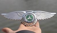 MERCEDES BENZ AMG Badge Emblem Eagle Wings 3D Car Logo Sticker Front Hood Bonnet Free Shipping