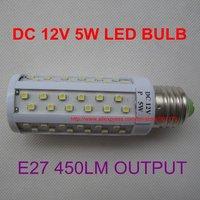 DC 12V 5W 78SMD 3528  E27 450lm white LED bulb for Solar panel nice lamp solar light system FREE SHIPPING 20pcs/lot