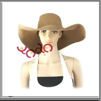 Free shipping,7Pcs/Lot 2011 Fashional Women Large Wide Brim Floppy Beach Hat, Foldable Sun Hat,Summer Hat- K00100